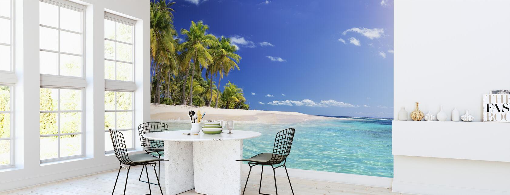 Palm Tree Beach - Wallpaper - Kitchen