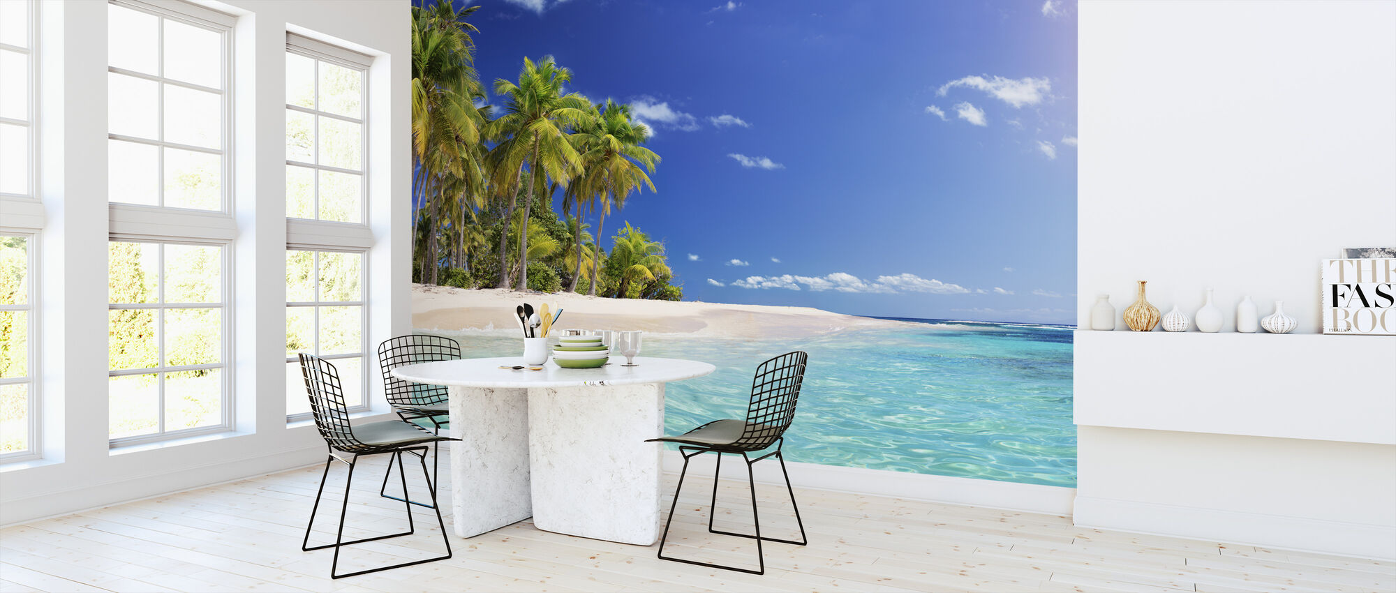 Palm Tree Beach - Wallpaper - Kitchen