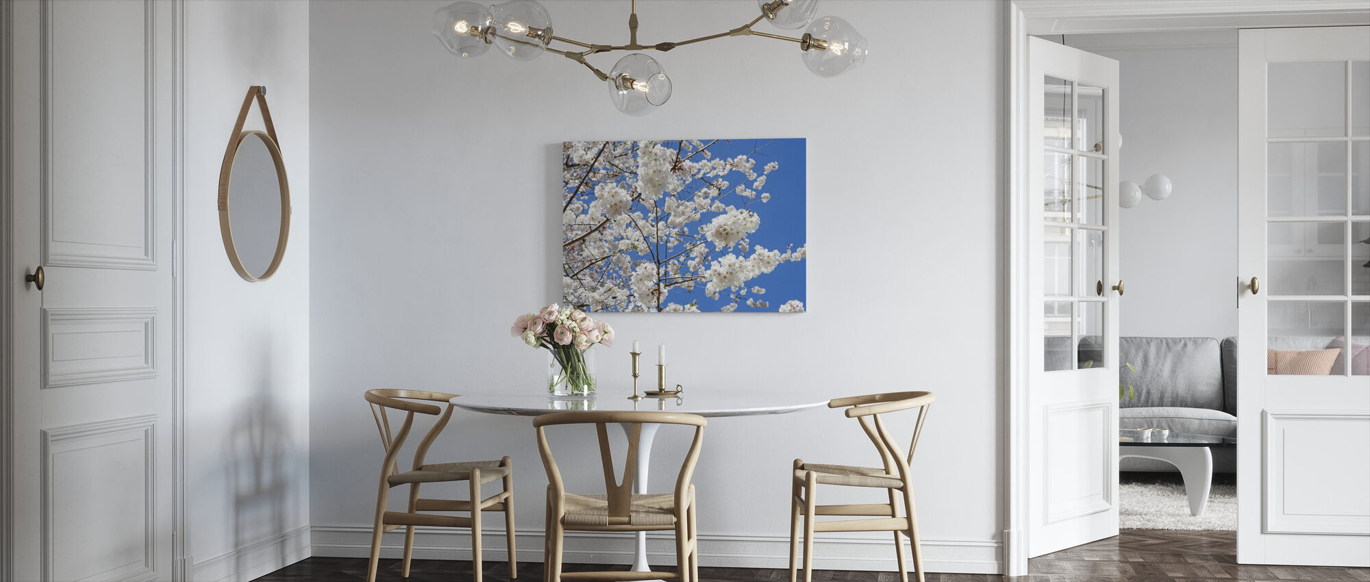 Cherry Blossoms - Canvas print - Kitchen