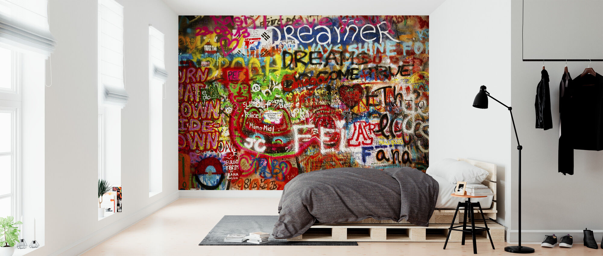 Graffiti Wall - Wallpaper - Bedroom