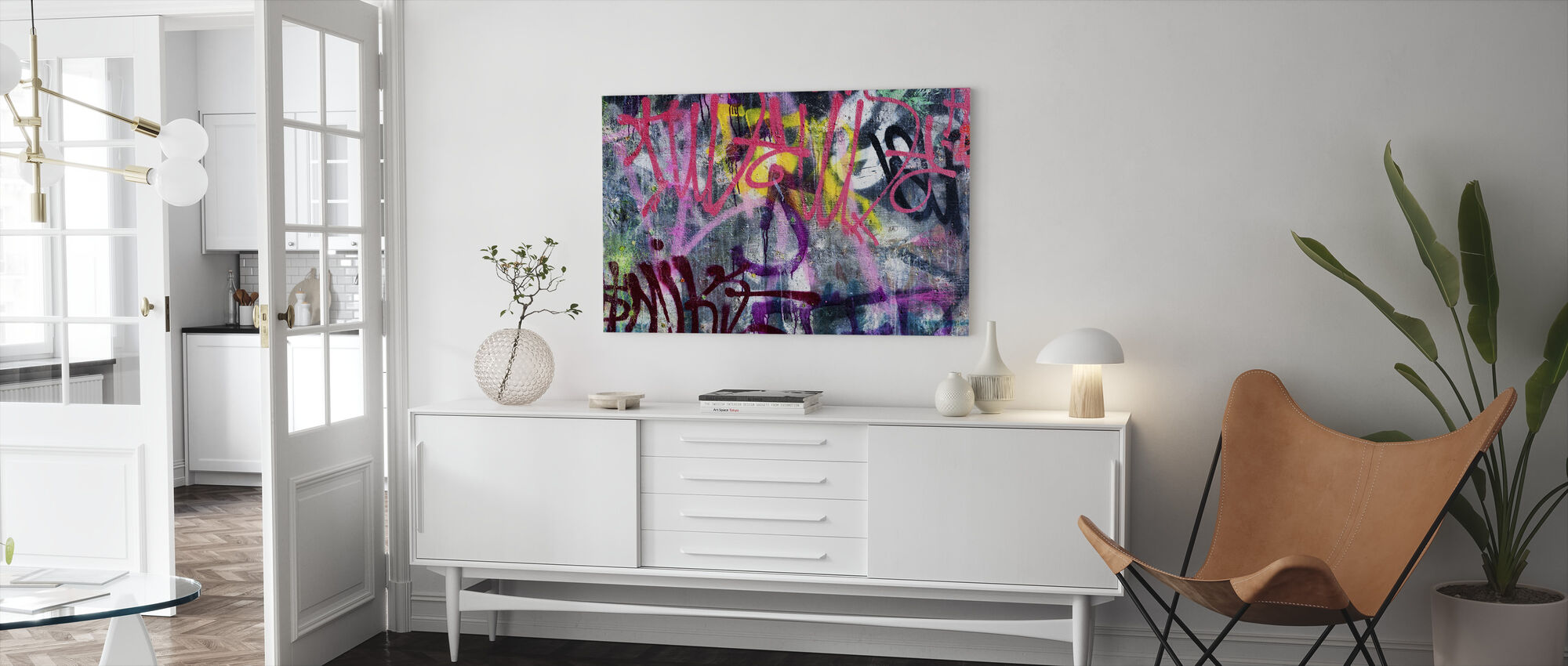 Colorful Graffiti - Canvas print - Living Room