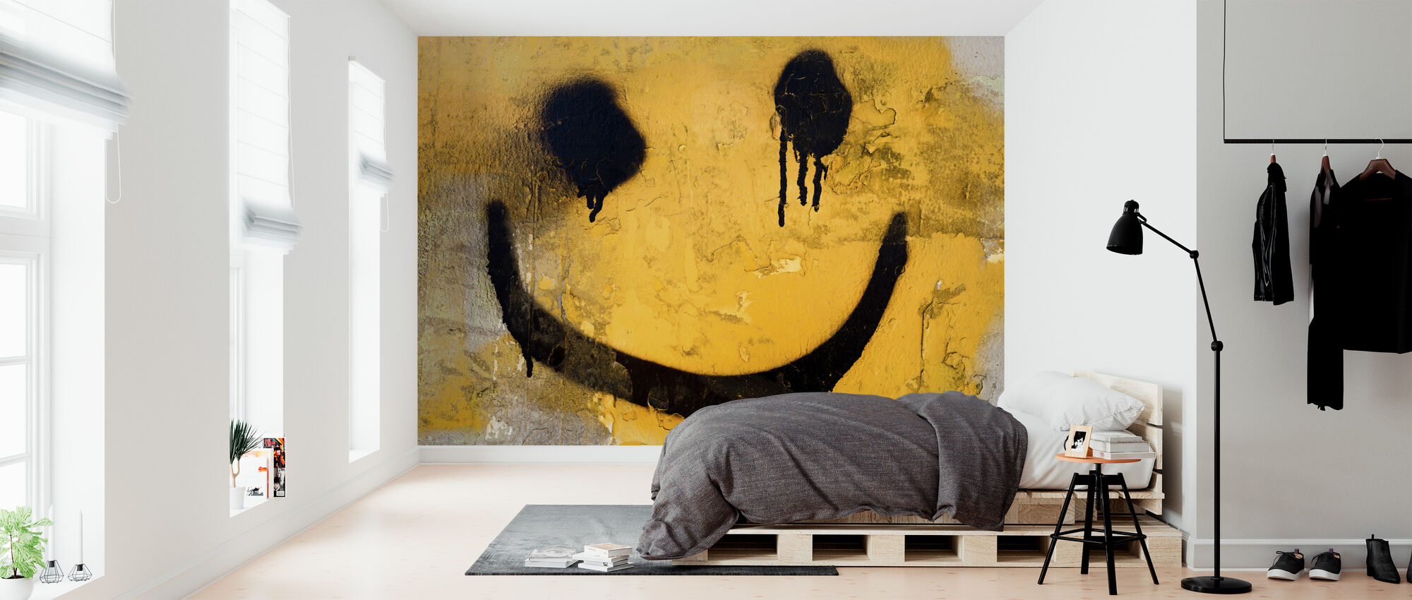 Smiley Face - Wallpaper - Bedroom