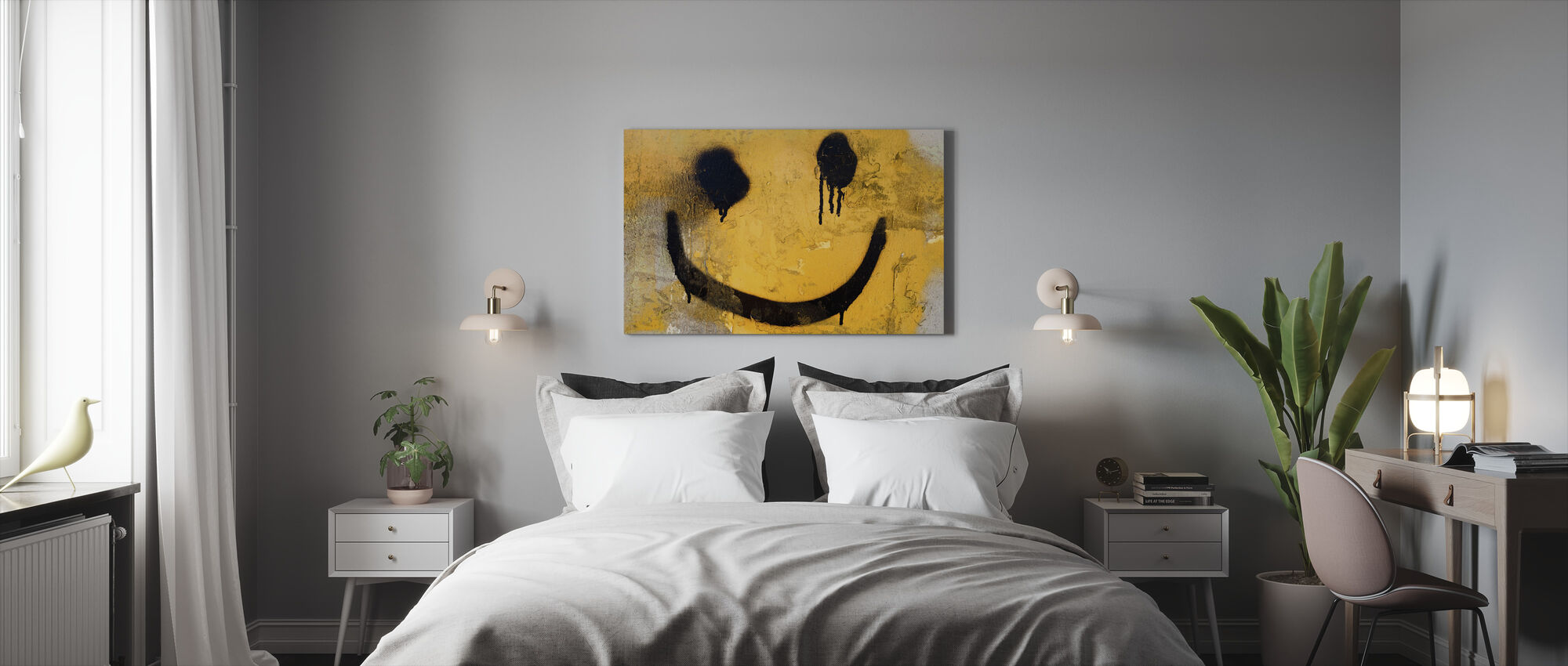 Smiley Face - Canvas print - Bedroom