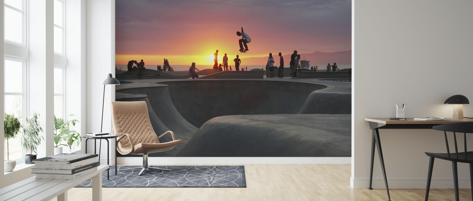 Skateboarding at the Beach - Wallpaper - Living Room