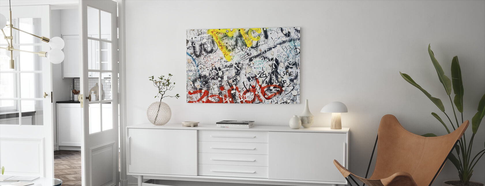 Berlin Wall Graffiti - Canvas print - Living Room