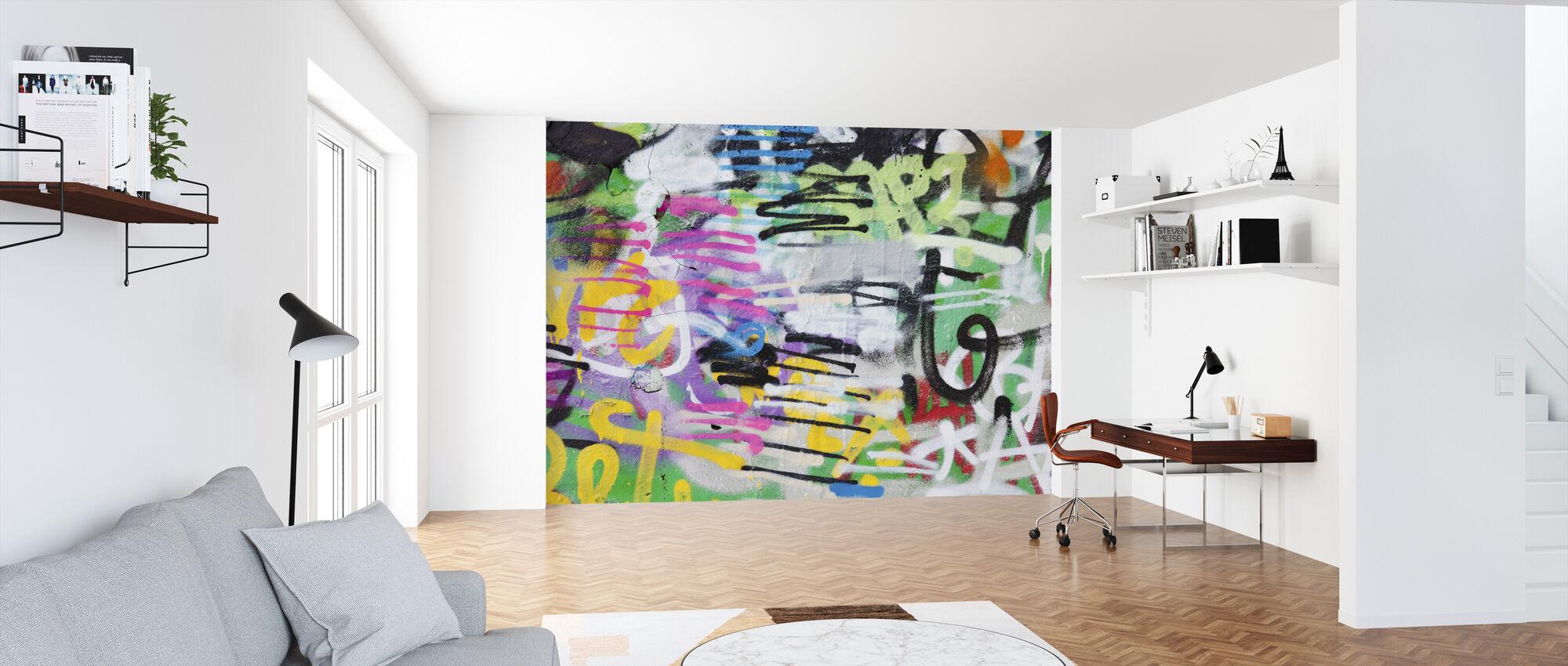 Painted Graffiti Wall - Wallpaper - Office