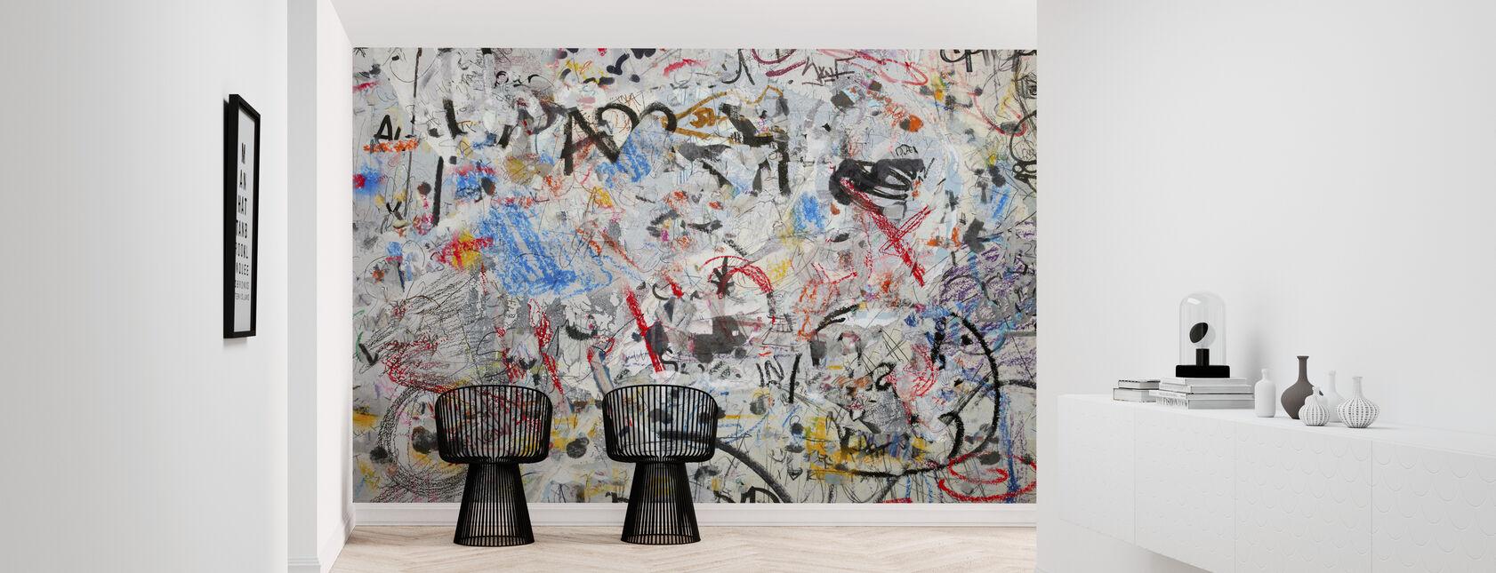 Ściana graffiti Grunge - Tapeta - Przedpokój