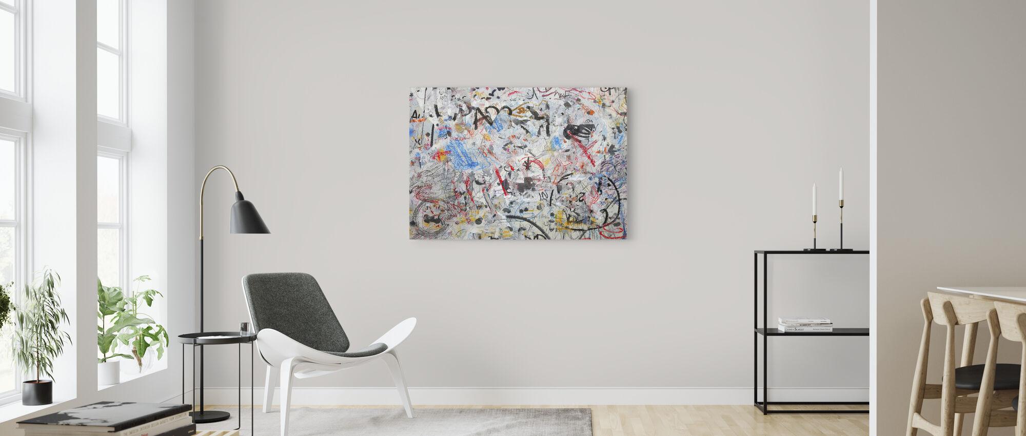 Grunge Graffiti Wall - Canvas print - Living Room