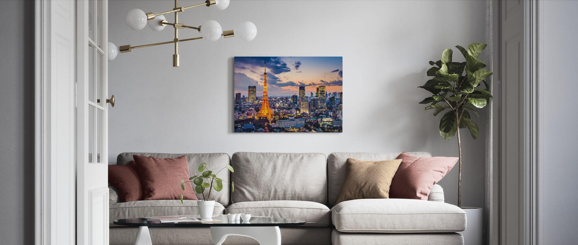 Tokyo Lichten - Canvas print - Woonkamer