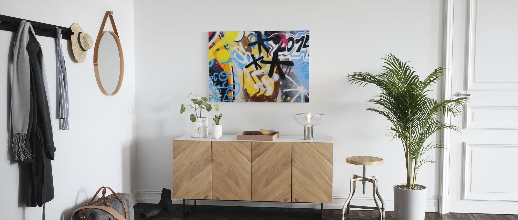 Graffiti Wall - Canvas print - Hallway