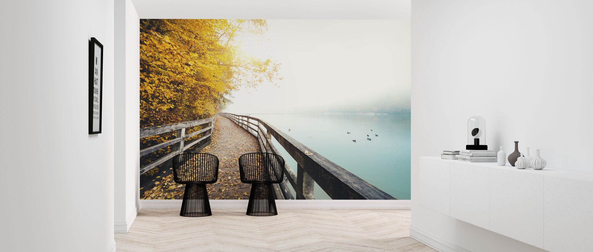 Path Along the Lake - Wallpaper - Hallway