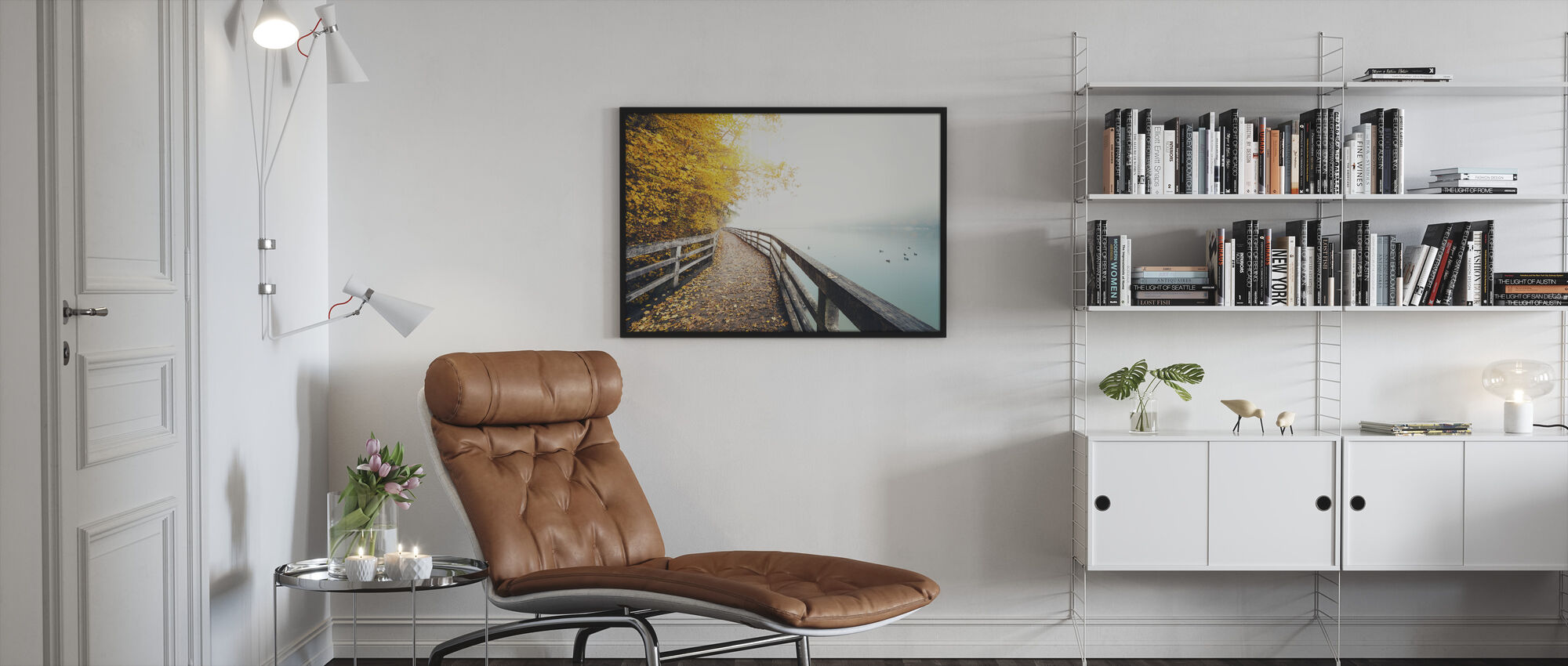 Path Along the Lake - Framed print - Living Room
