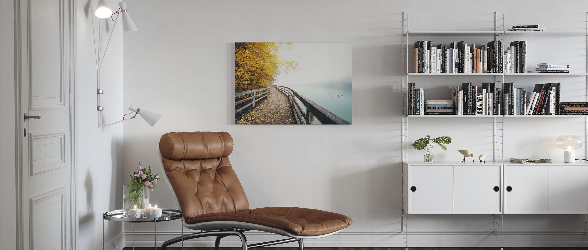 Path Along the Lake - Canvas print - Living Room