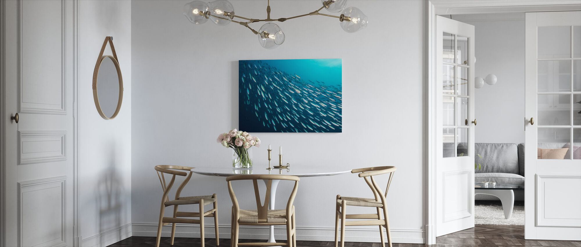 School of Sardines - Canvas print - Kitchen