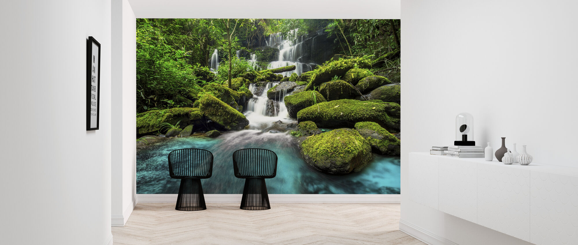 Green Forest Waterfall - Wallpaper - Hallway