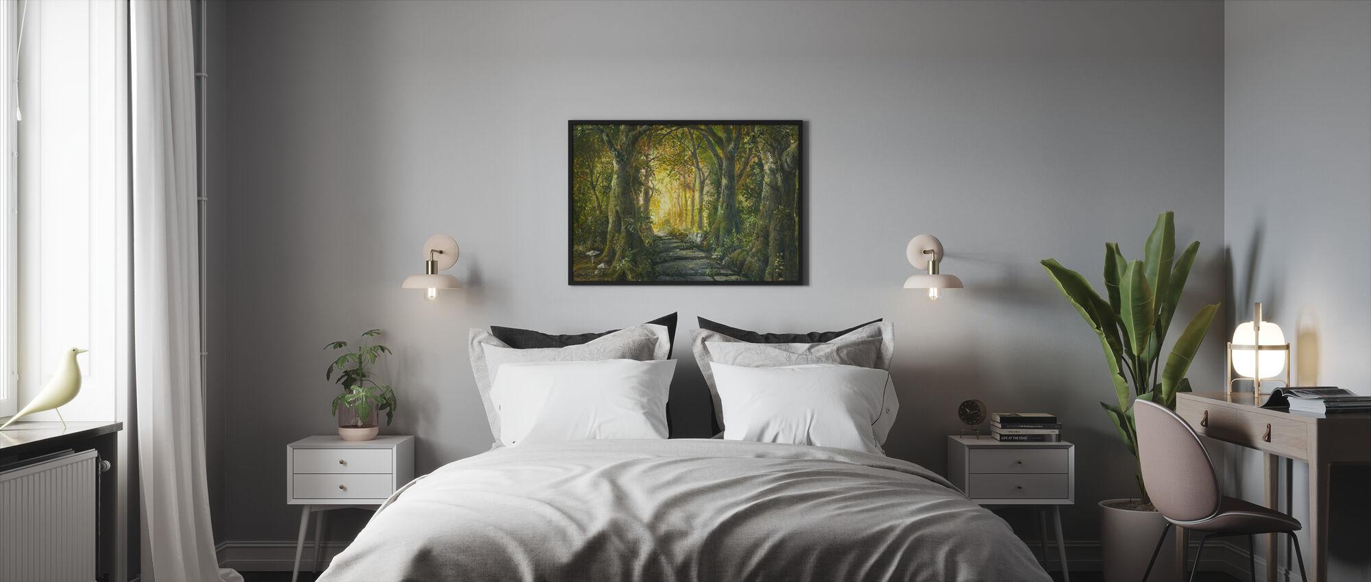 Maaginen metsä - Kehystetty kuva - Makuuhuone