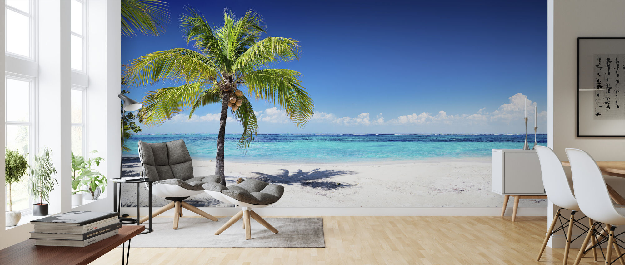 Coral Beach With Palm Tree Wall Murals Online Photowall