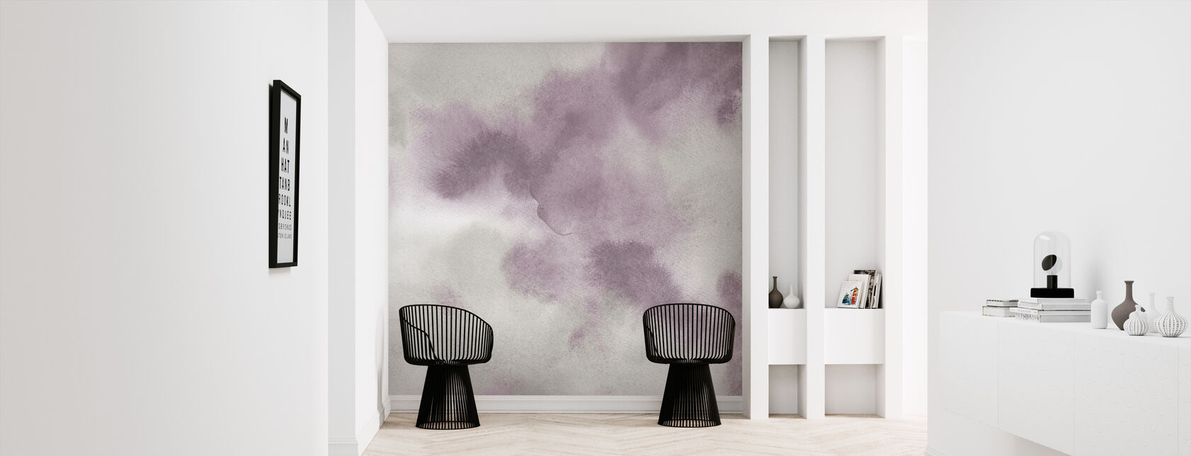 Mauve Indigo Flow - Wallpaper - Hallway