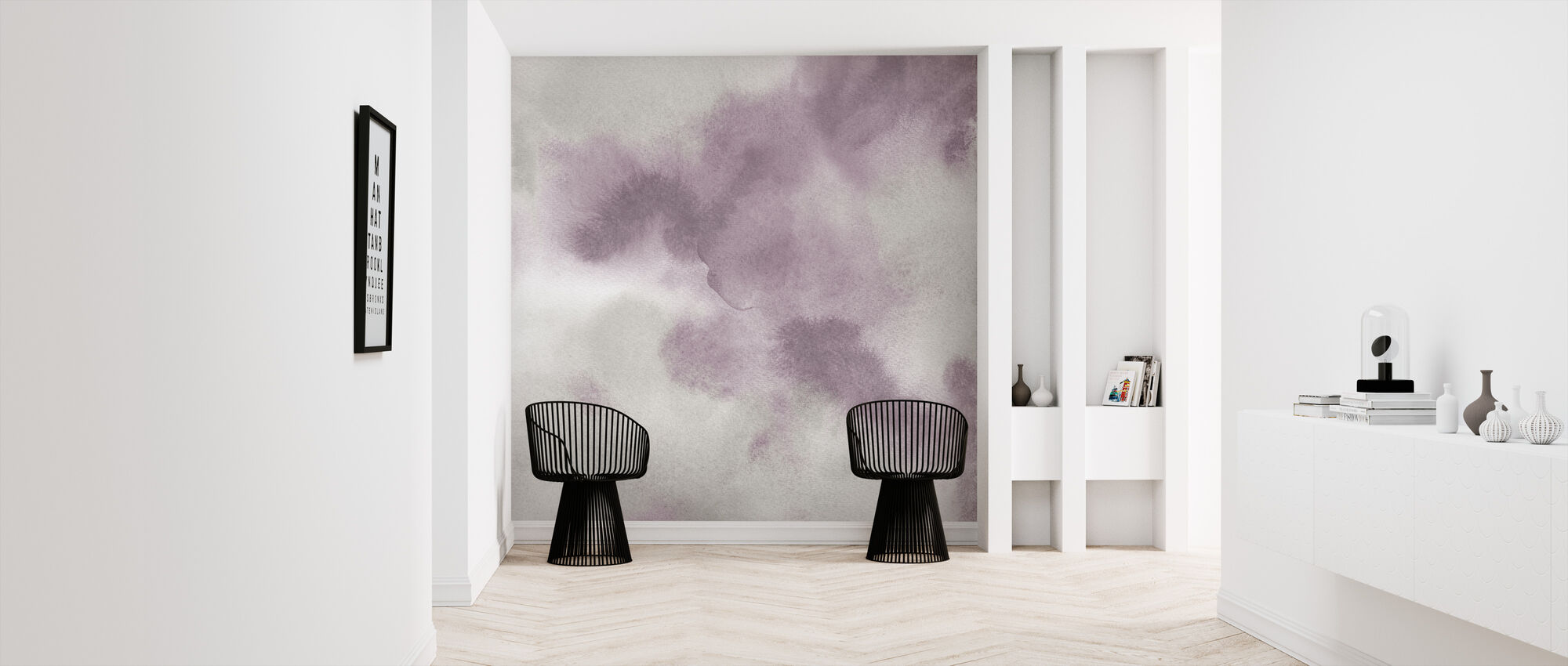 Mauve Indigo Flow - Wallpaper - Hallway