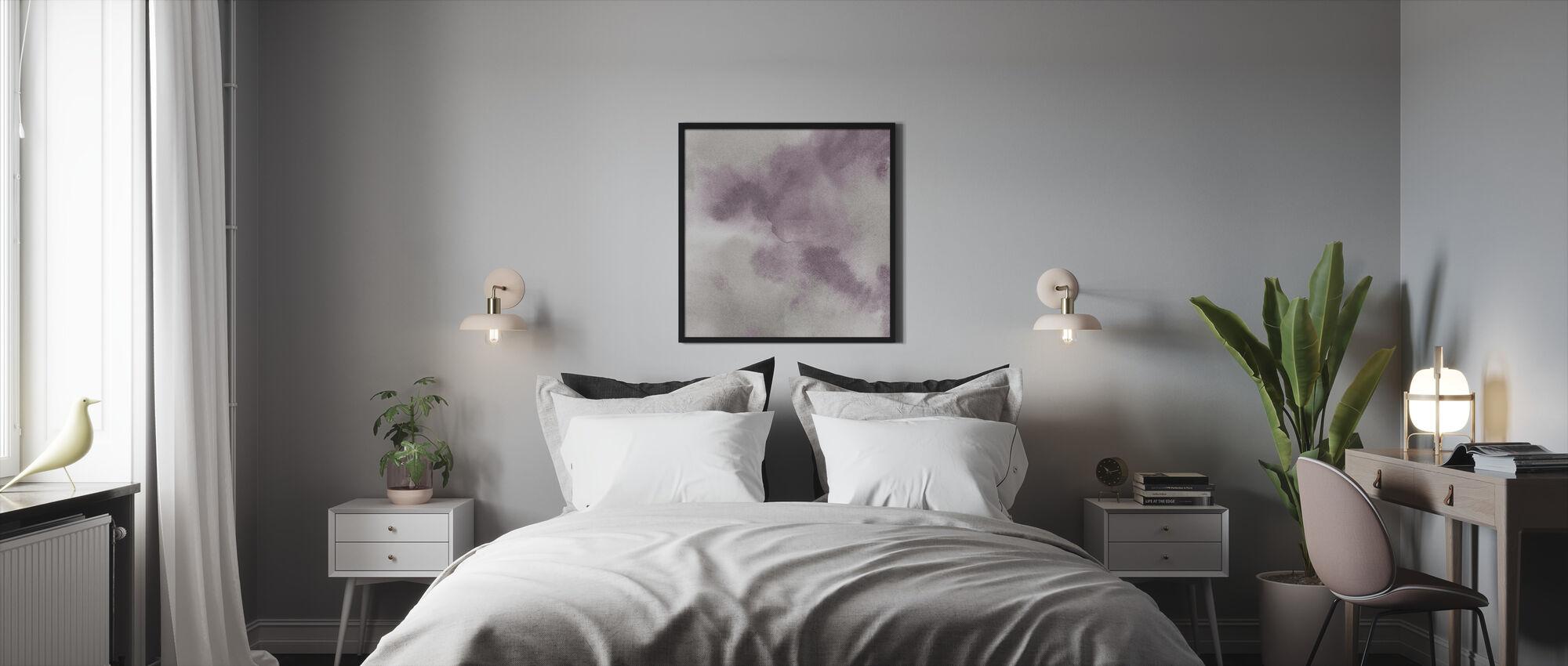 Mauve Indigo Flow - Framed print - Bedroom
