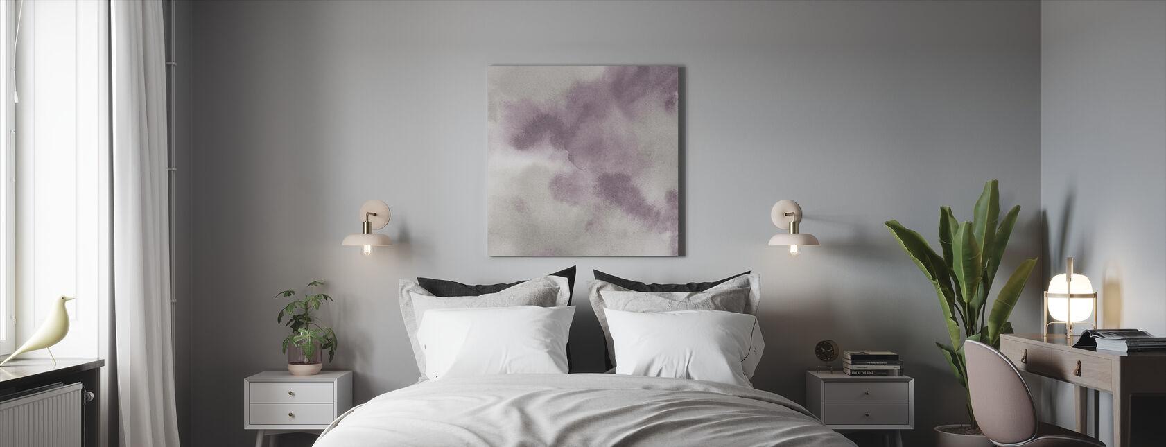 Mauve Indigo Flow - Canvas print - Bedroom