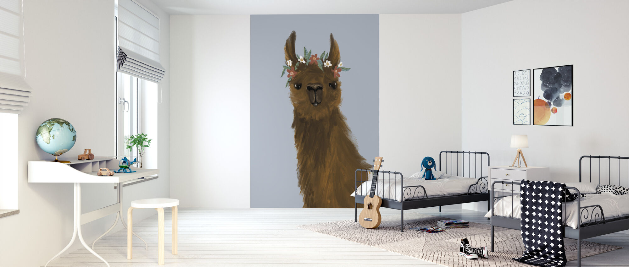 Delightful Alpacas II - Wallpaper - Kids Room