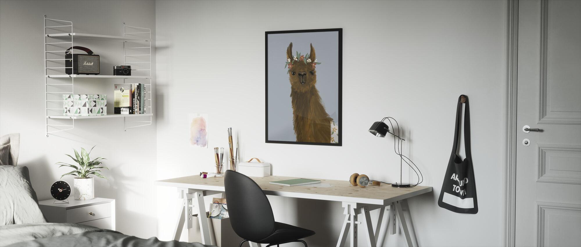 Delightful Alpacas II - Framed print - Kids Room