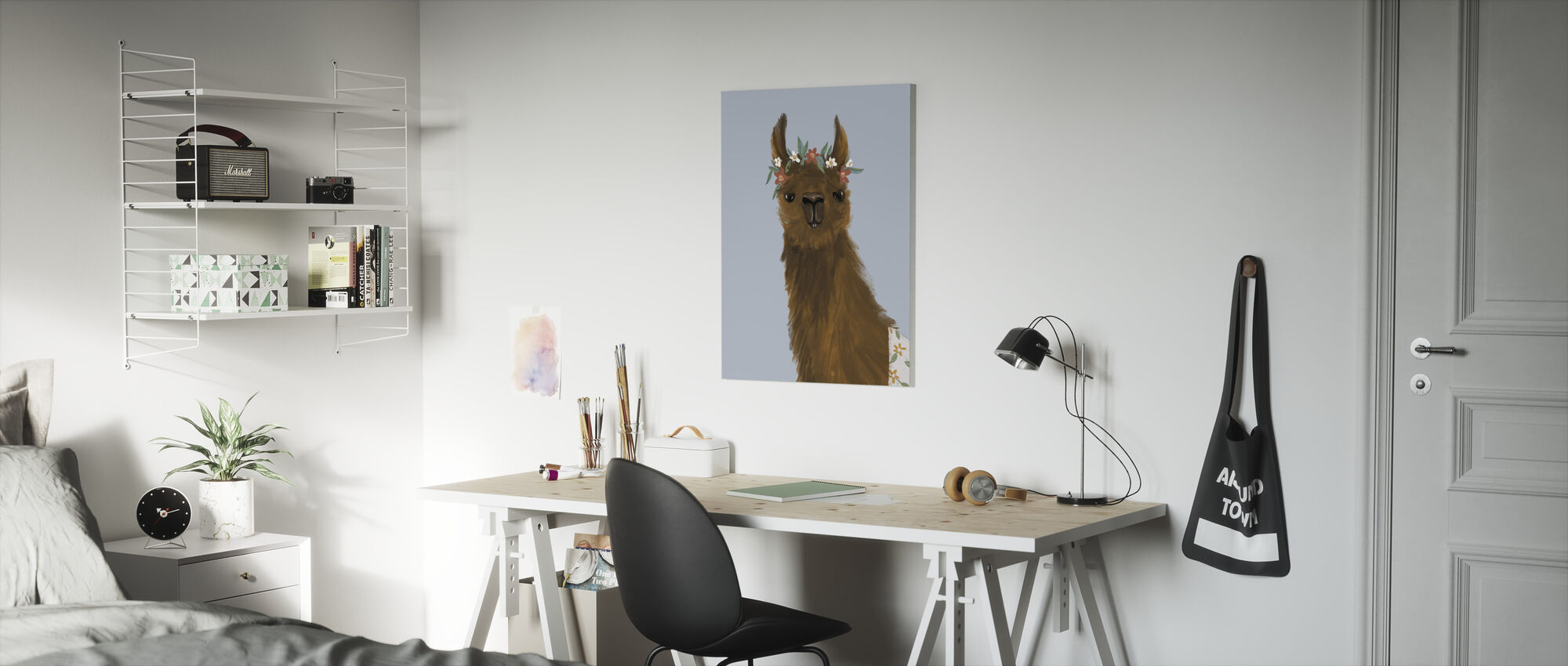 Delightful Alpacas II - Canvas print - Kids Room