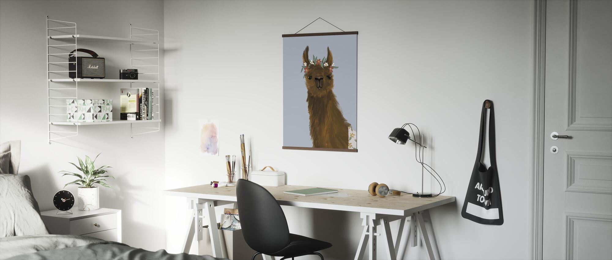 Delightful Alpacas II - Poster - Office