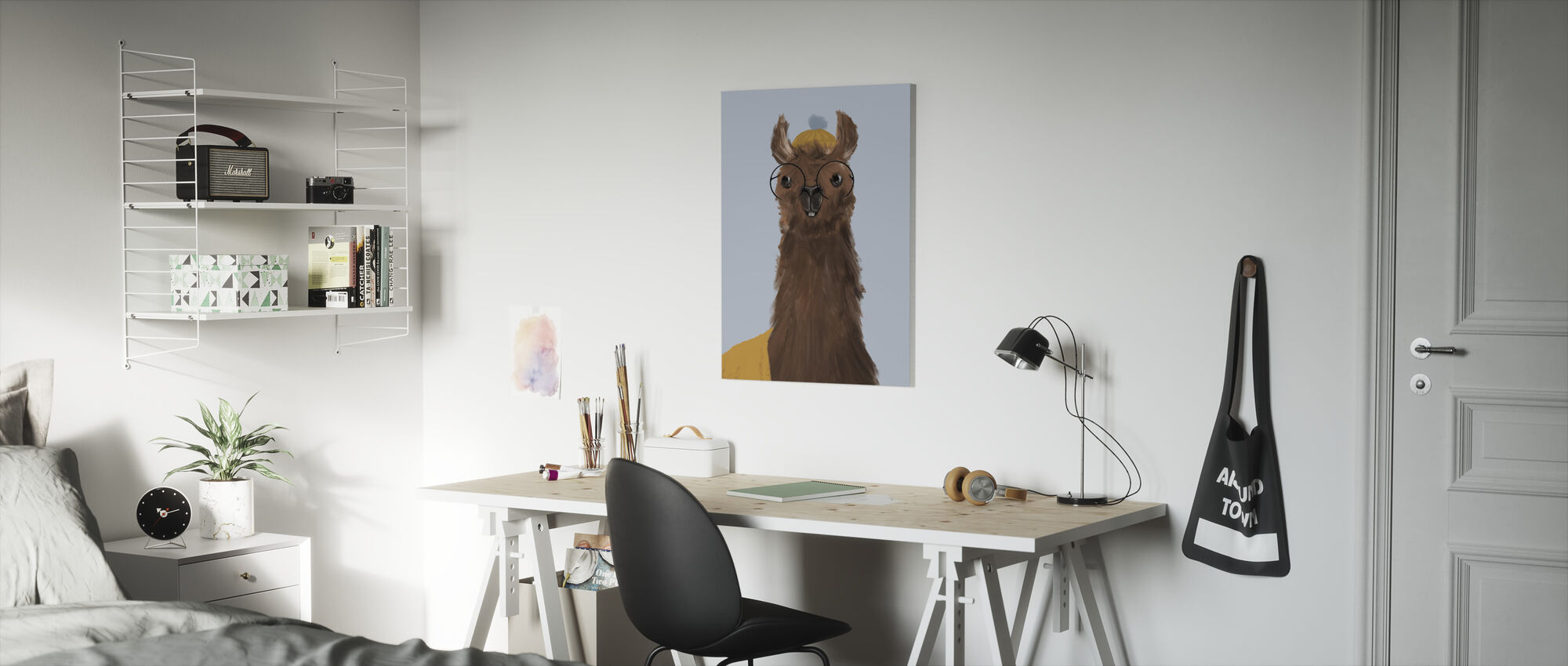 Delightful Alpacas III - Canvas print - Kids Room