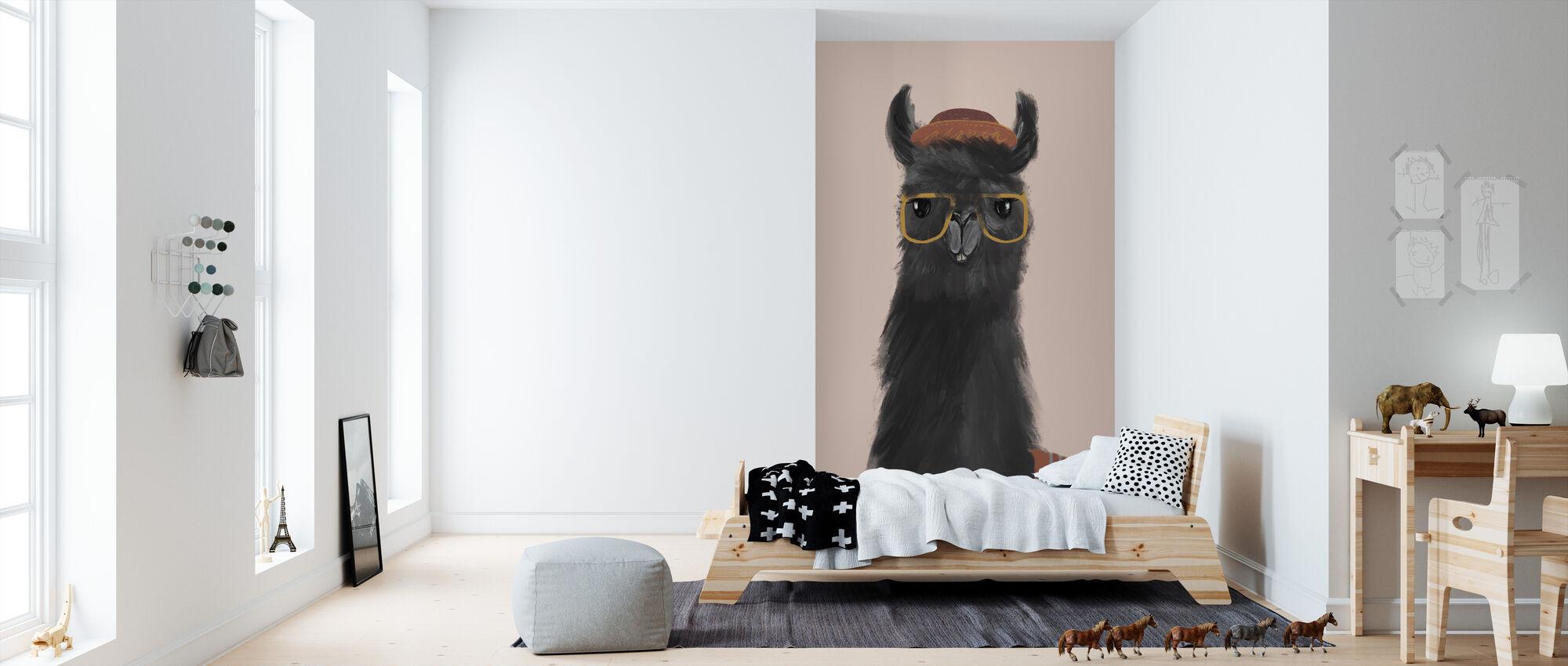 Heerlijke Alpaca's IV - Behang - Kinderkamer