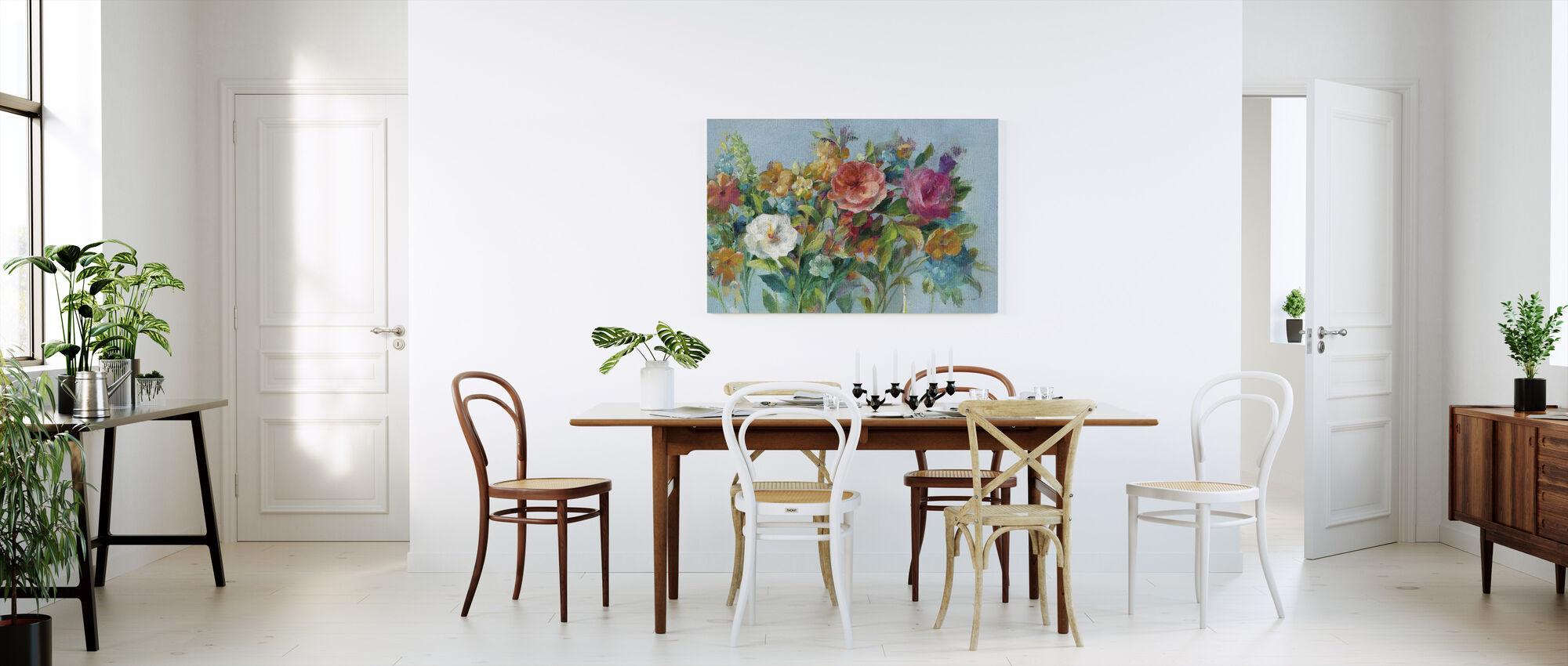 Country Florals - Canvas print - Kitchen