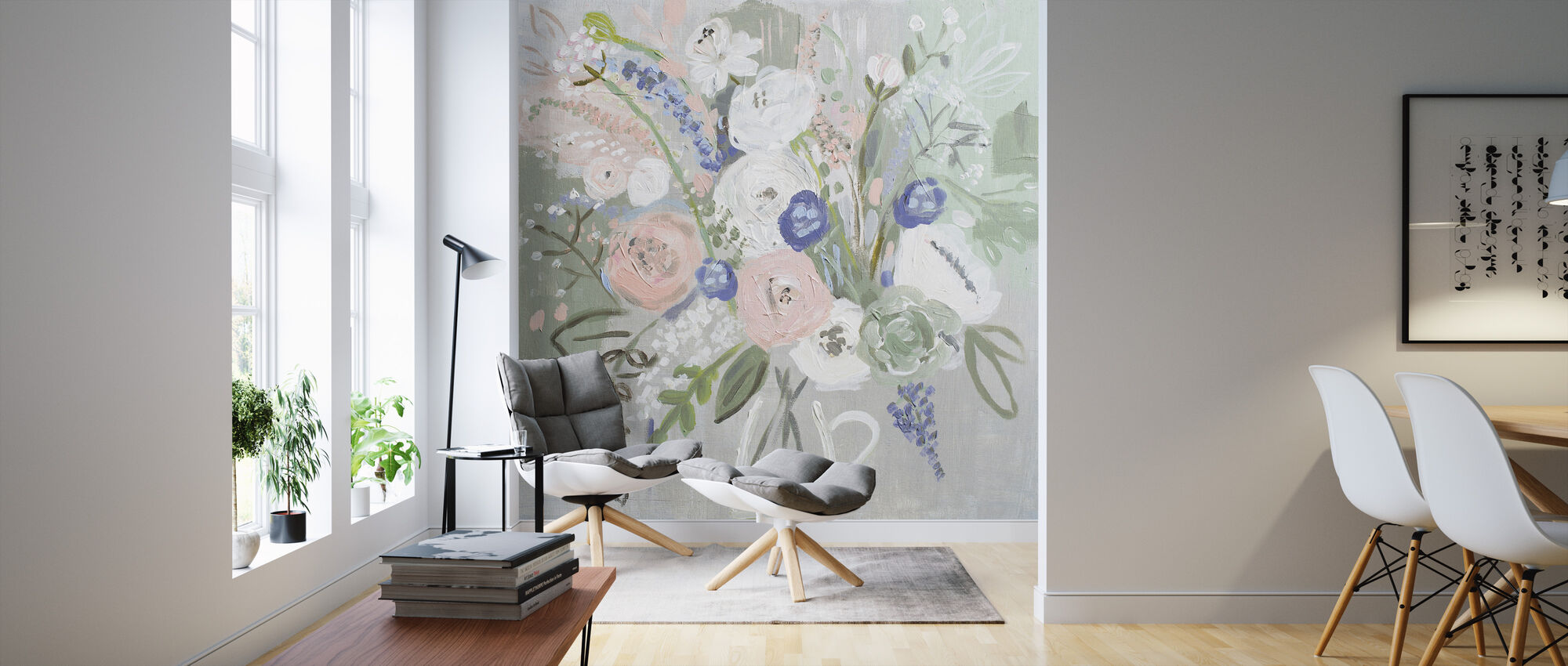 Floral Elegance - Wallpaper - Living Room