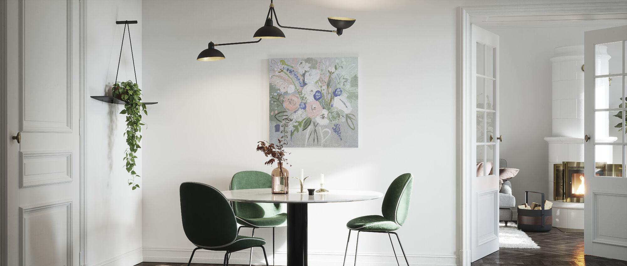Floral Elegance - Canvas print - Kitchen