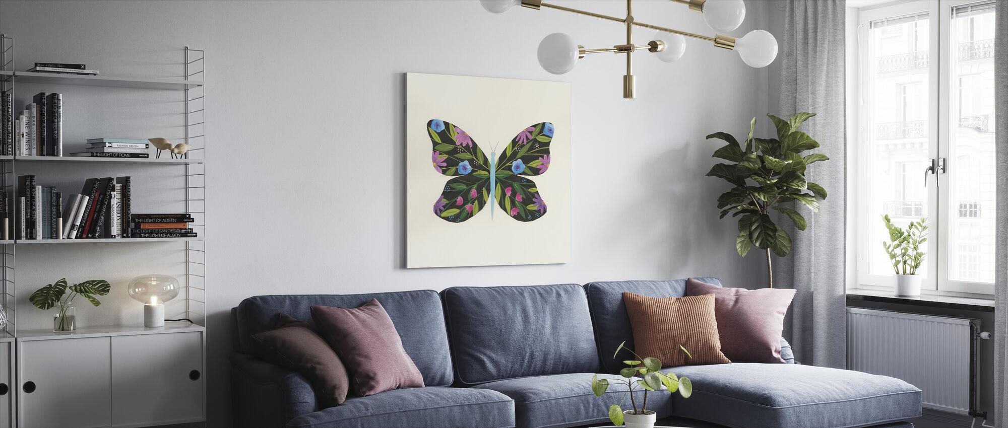 Butterfly Garden - Canvas print - Living Room