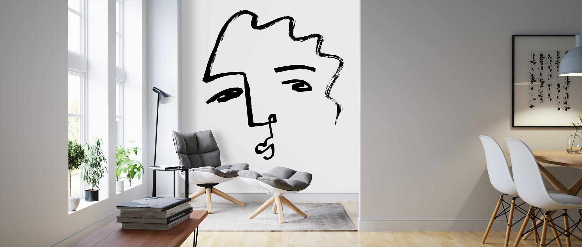 Making Faces II - Wallpaper - Living Room
