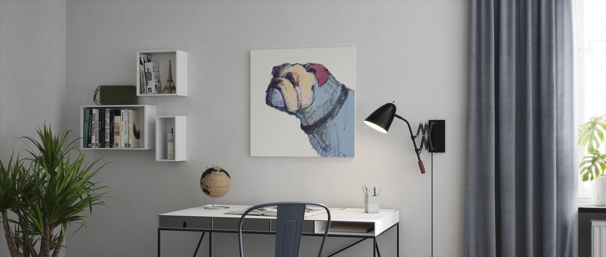 Castor Watercolor Pastel - Canvas print - Office
