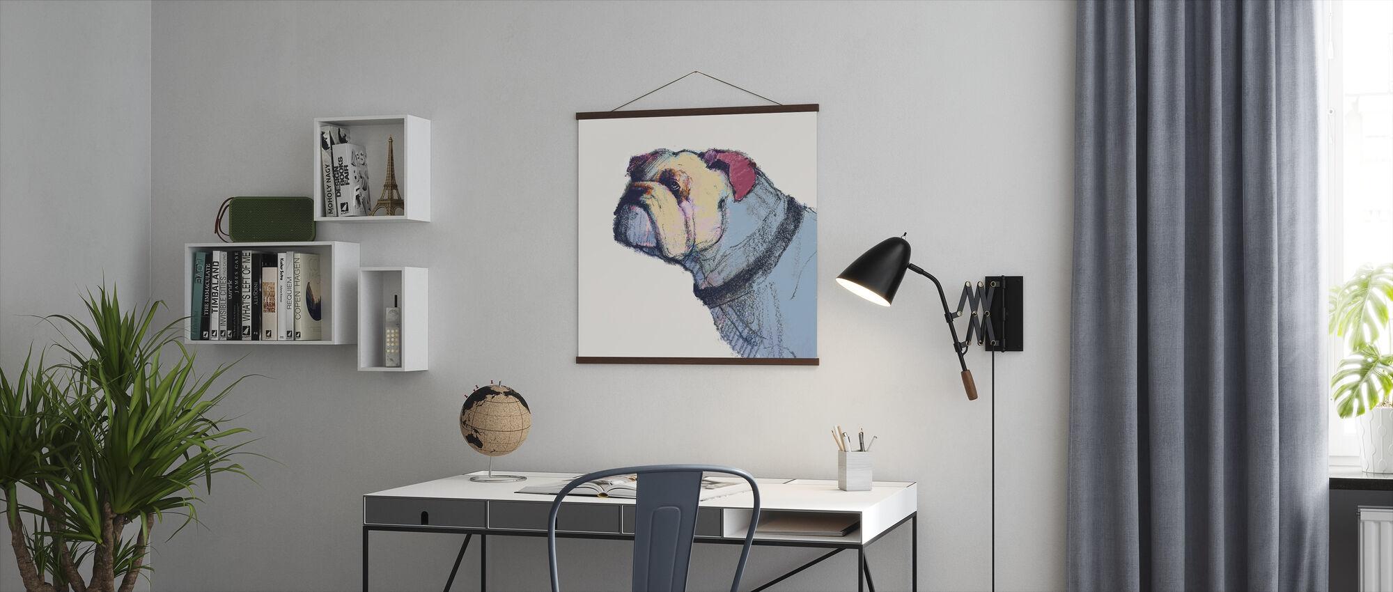 Castor Watercolor Pastel - Poster - Office
