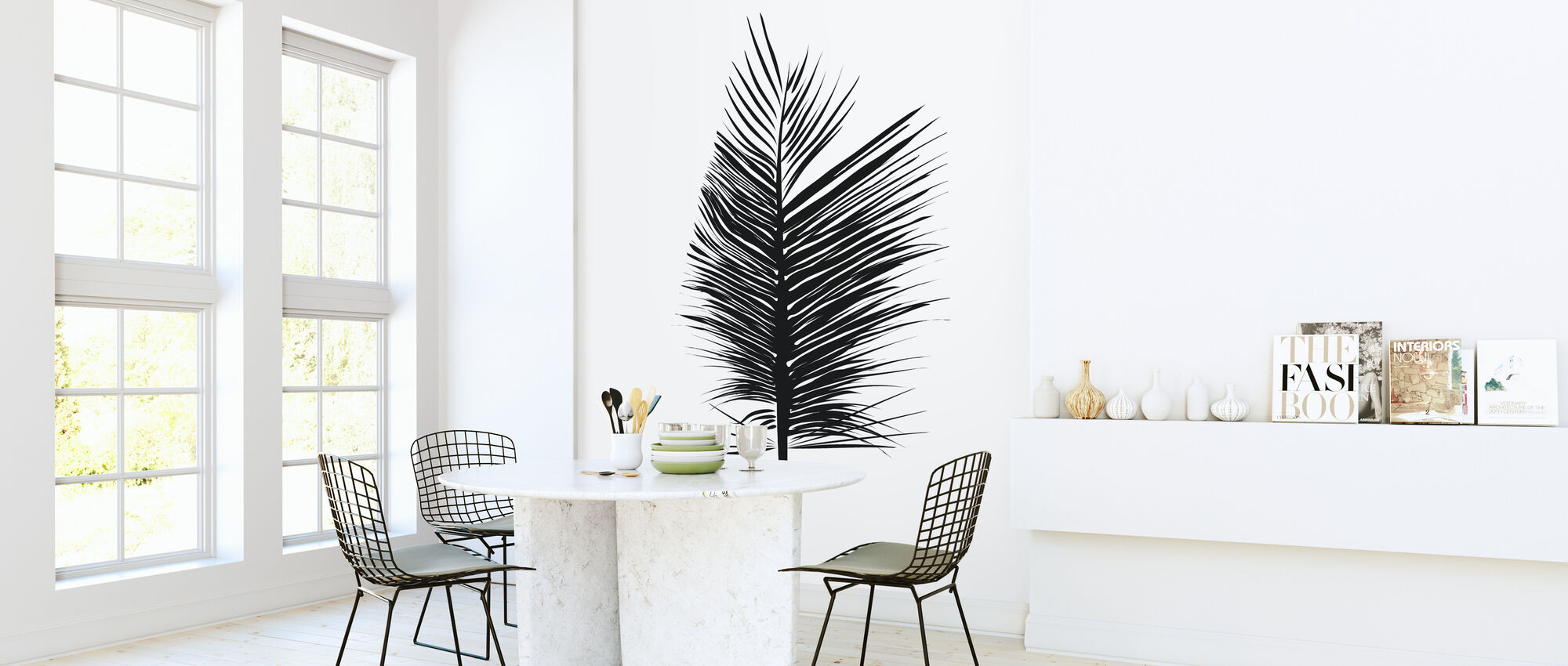 Abstract blad - Behang - Keuken