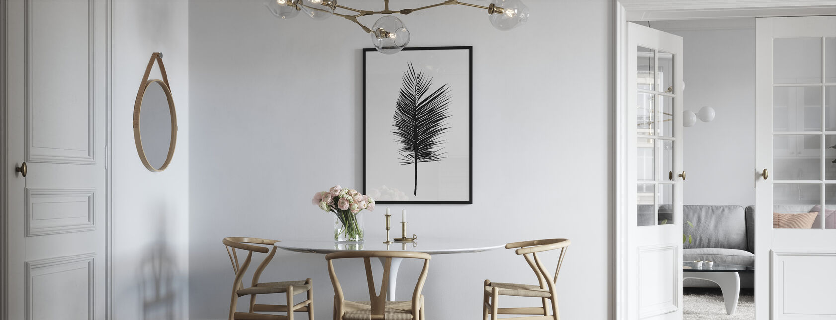 Abstrakt blad - Innrammet bilde - Kjøkken