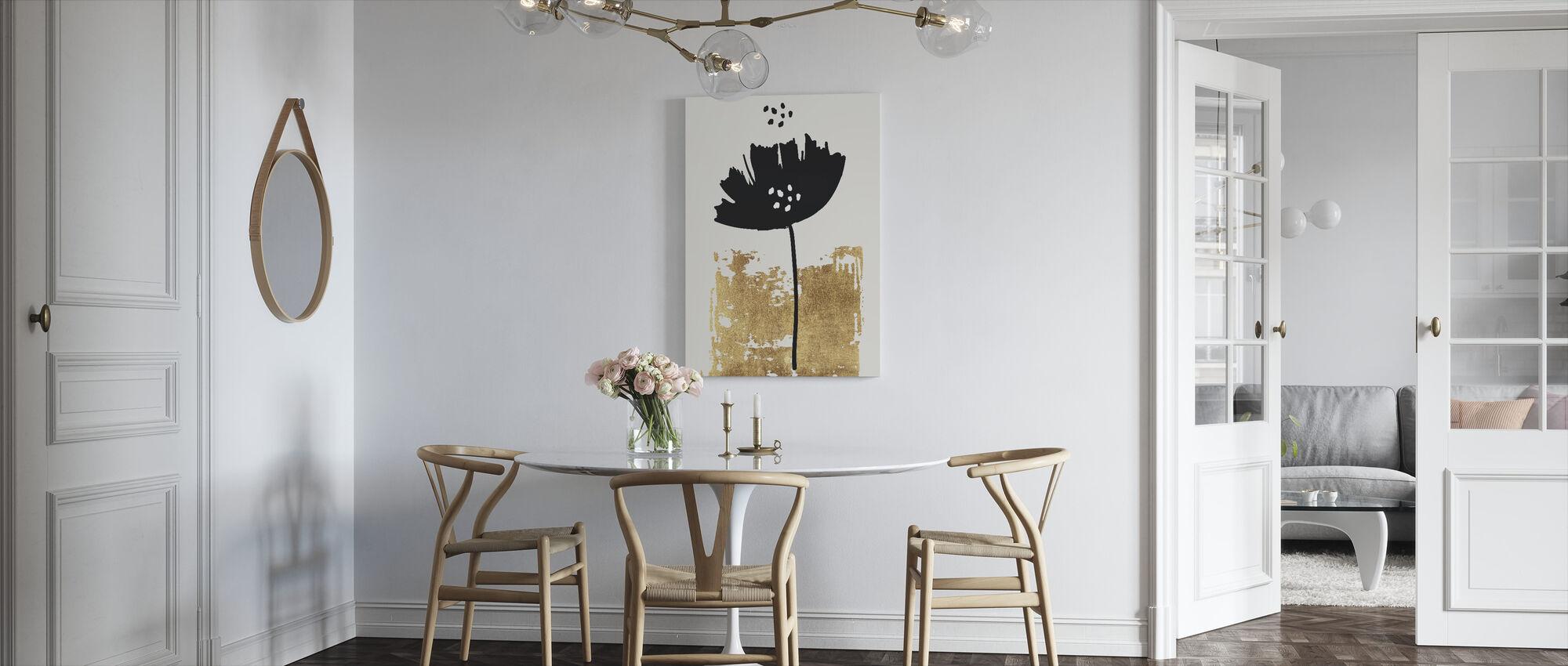 Black Poppy - Canvas print - Kitchen