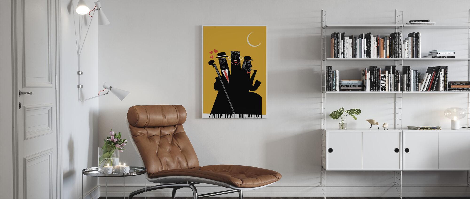 Jazzy nachten - Canvas print - Woonkamer
