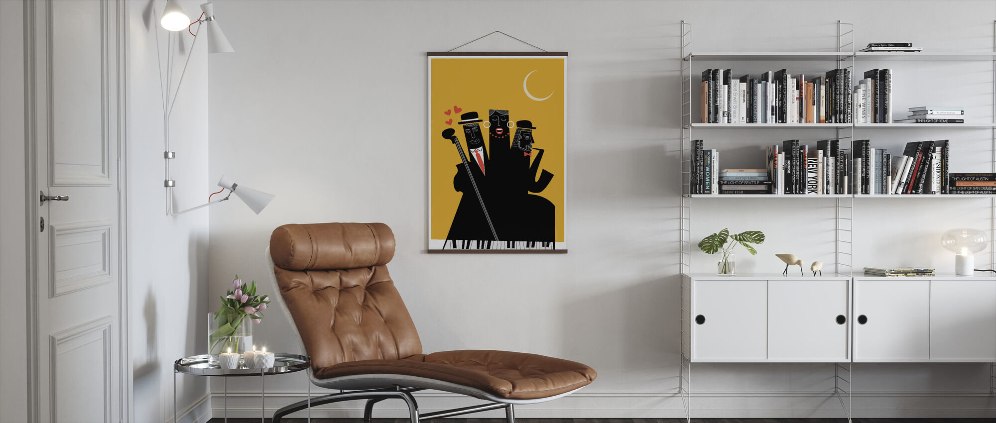 Jazzy Nights - Poster - Living Room