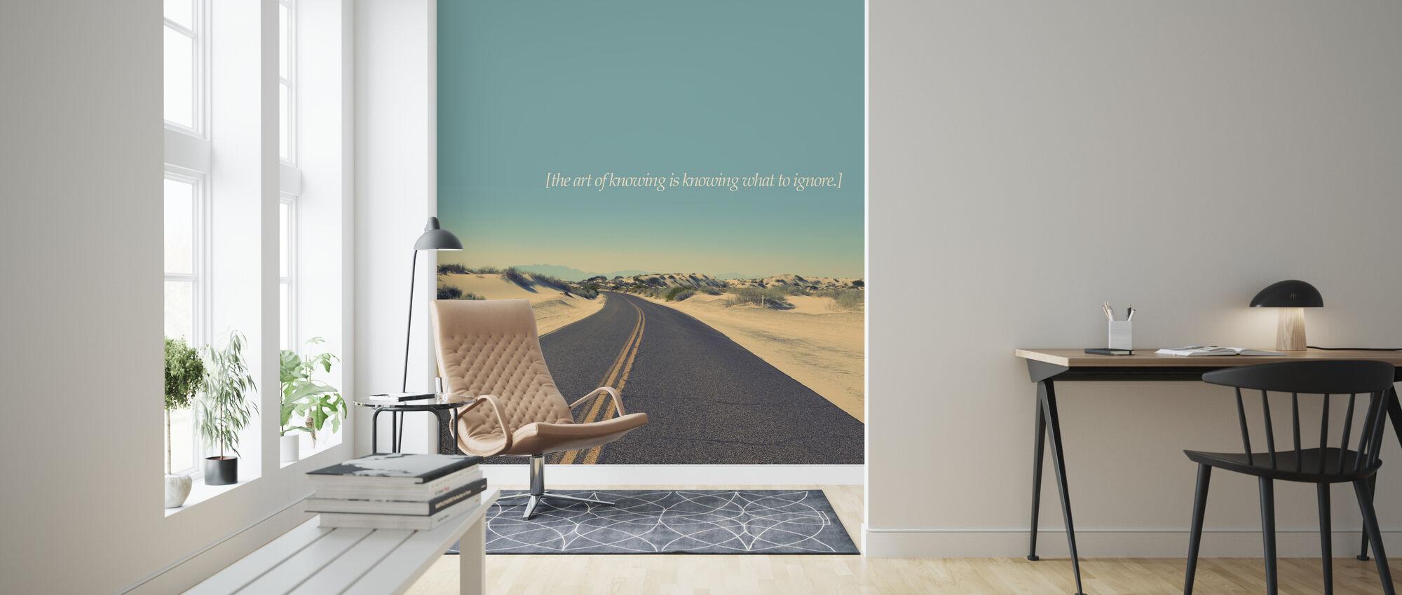 De kunst van het weten - Behang - Woonkamer