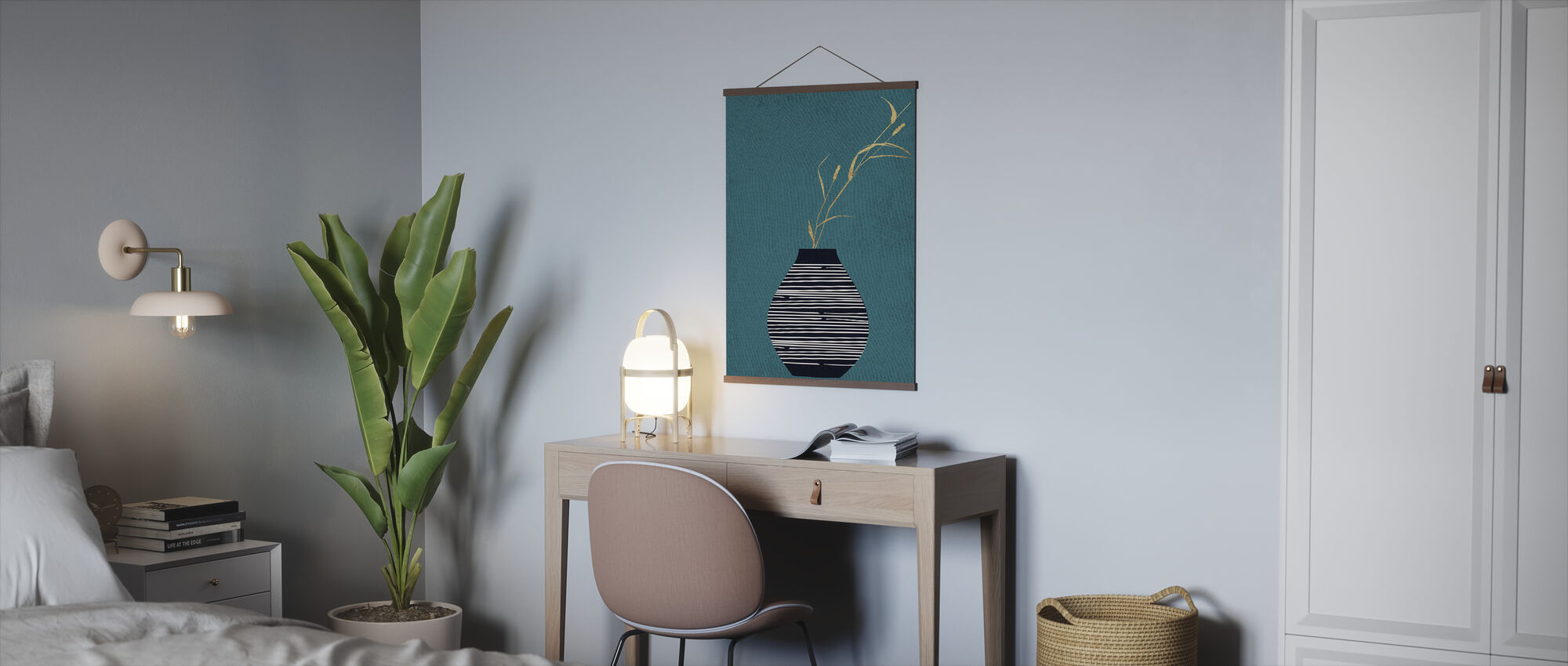Turquois Bouquet - Poster - Office