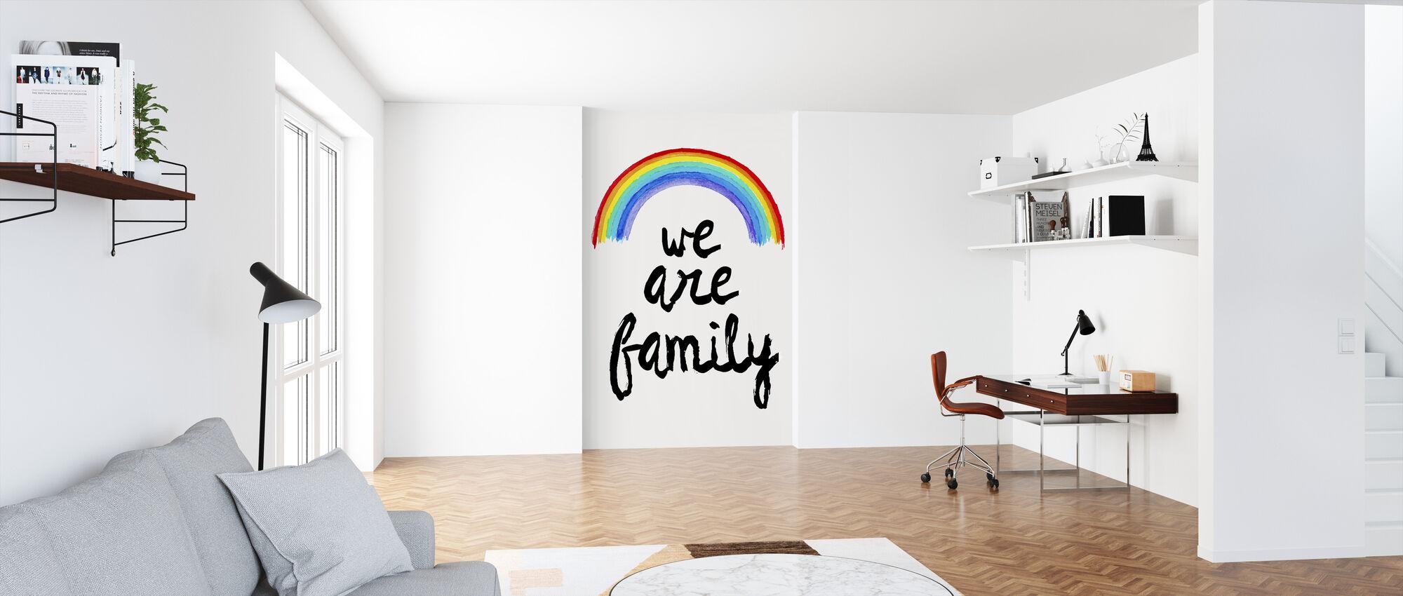Wij zijn familie - Behang - Kantoor