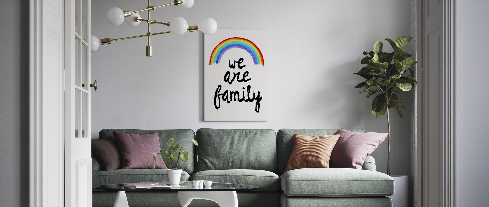 We are Family - Canvas print - Living Room