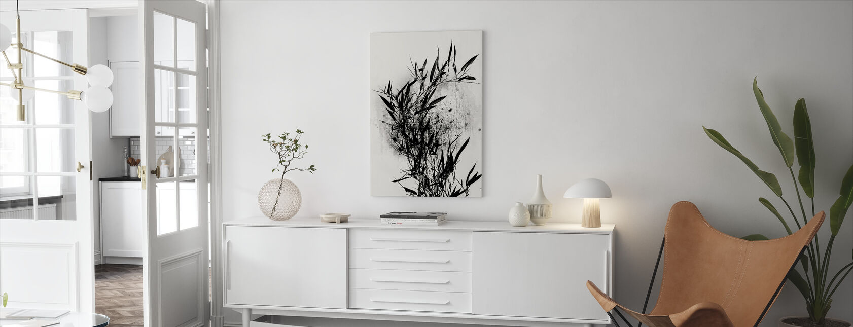 Black Orchidee - Canvas print - Living Room