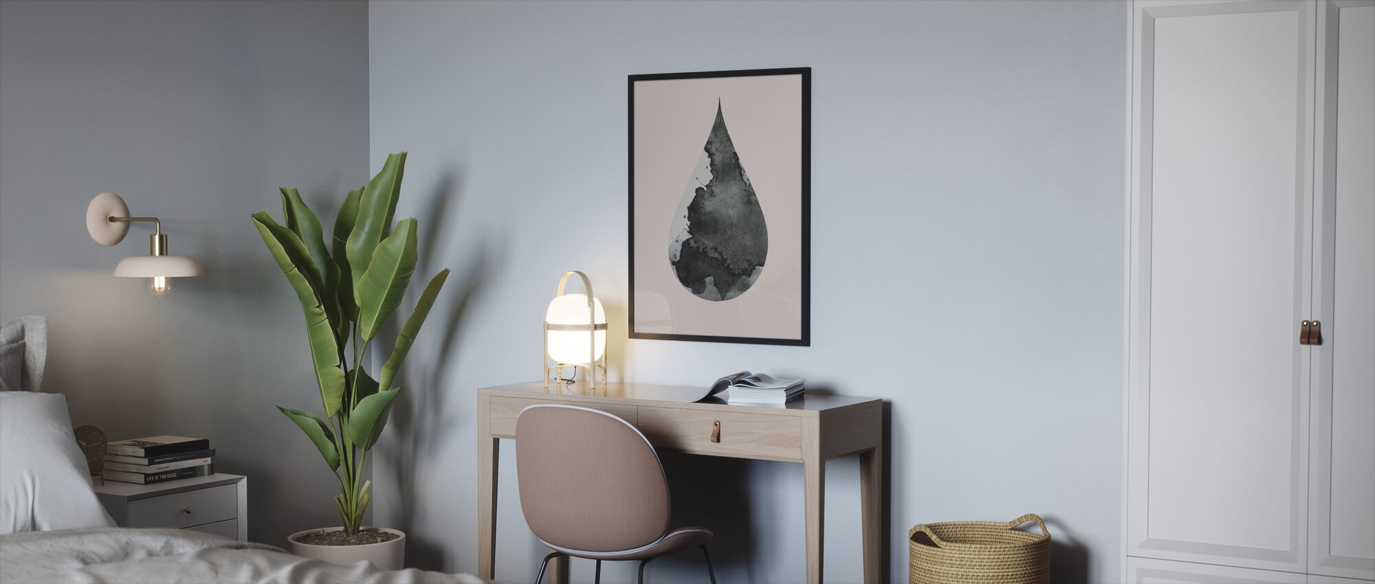 Drop No 4 - Framed print - Bedroom