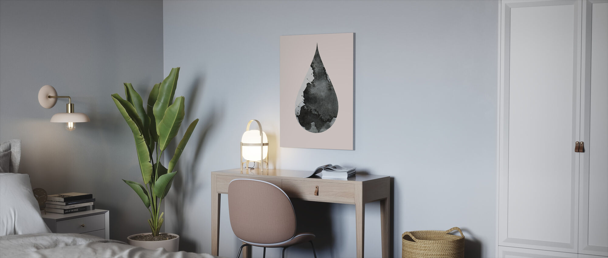 Drop nr. 4 - Canvas print - Kantoor